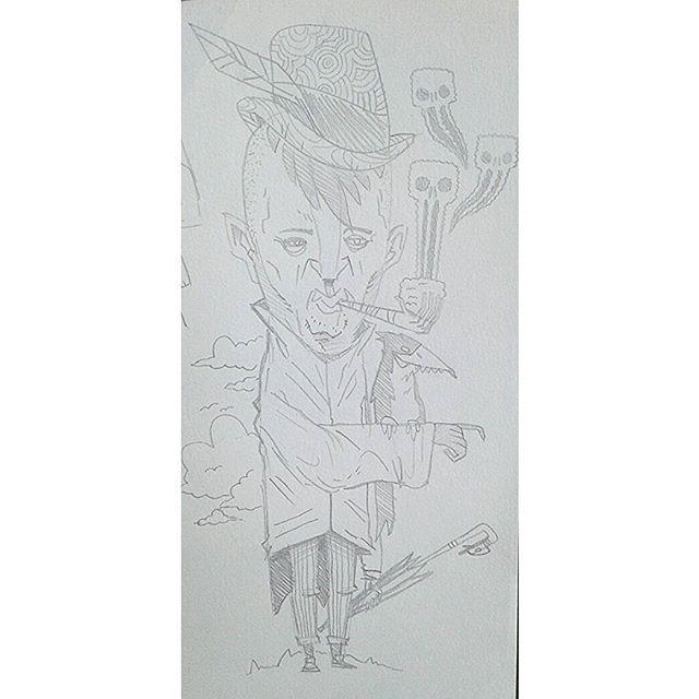 """Dandy Man"" #kenny_poppins #dailydoodle #pencil #drawing #sketchbook #dandy #strange"