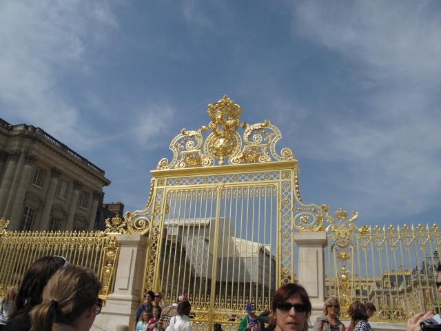 Gold Gates at Palace and Gardens at Versailles