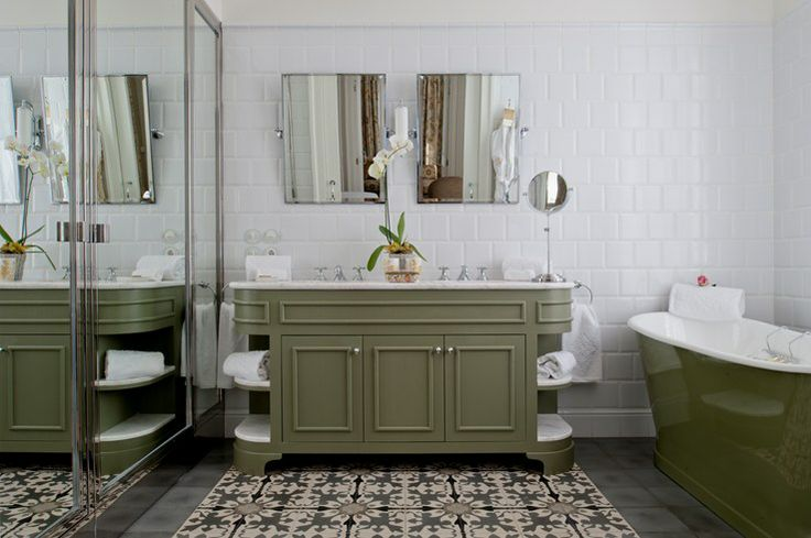Vidago Palace, Portugal - Privilege Room Green Bathroom ...
