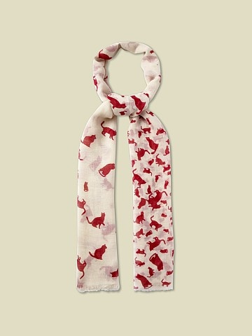 CATS SCALE SCARF | scarves | White Stuff