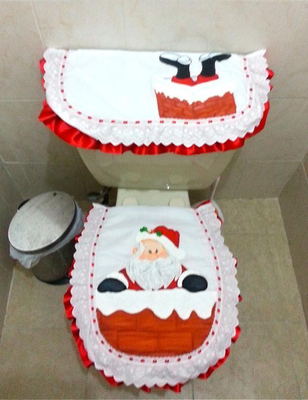 Lenceria De Baño Navidad:Juego De Bano Navidad