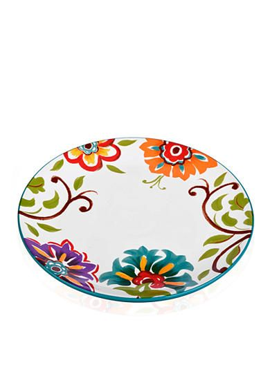 Home Accents® 10.75-in. Round Floral Dinner Plate - Belk.com