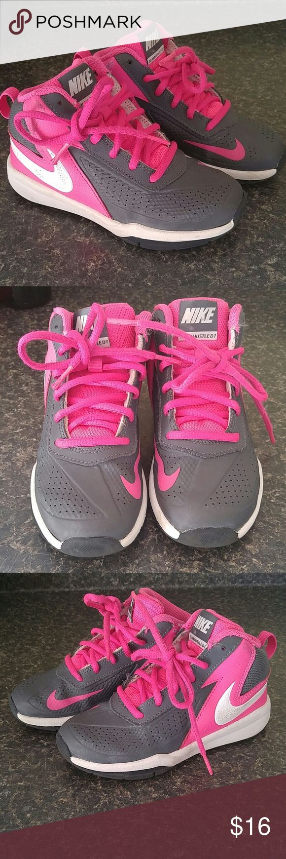 Nike Team Hustle mid tops Great shape. Some usage and light show of wear. Size 12c. Nike Shoes Sneakers