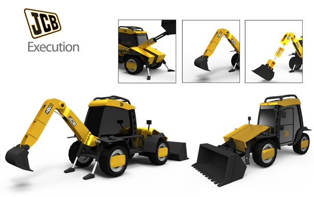 JCB Backhoe Loader Concept by Carlos Estrada