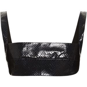 Dion Lee Embossed Leather Snake Bra