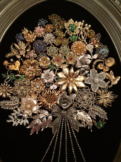 507 Best Art Made With Jewelry And Buttons Images On