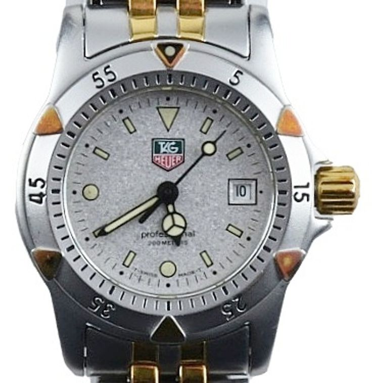 Ladie's Tag Heuer Professional 1500 Watch with Two Tone Bracelet : EBTH