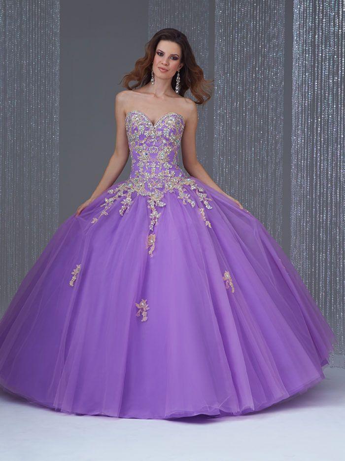 fc94b395e Vestido de 15 Años Q488 estilo princesa vista frontal