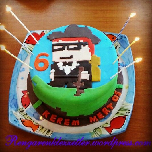 Growtopia cake for my cousin