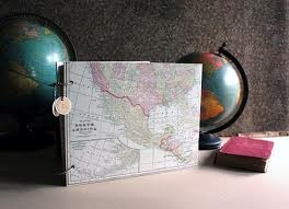 map wedding guest book - Google Search