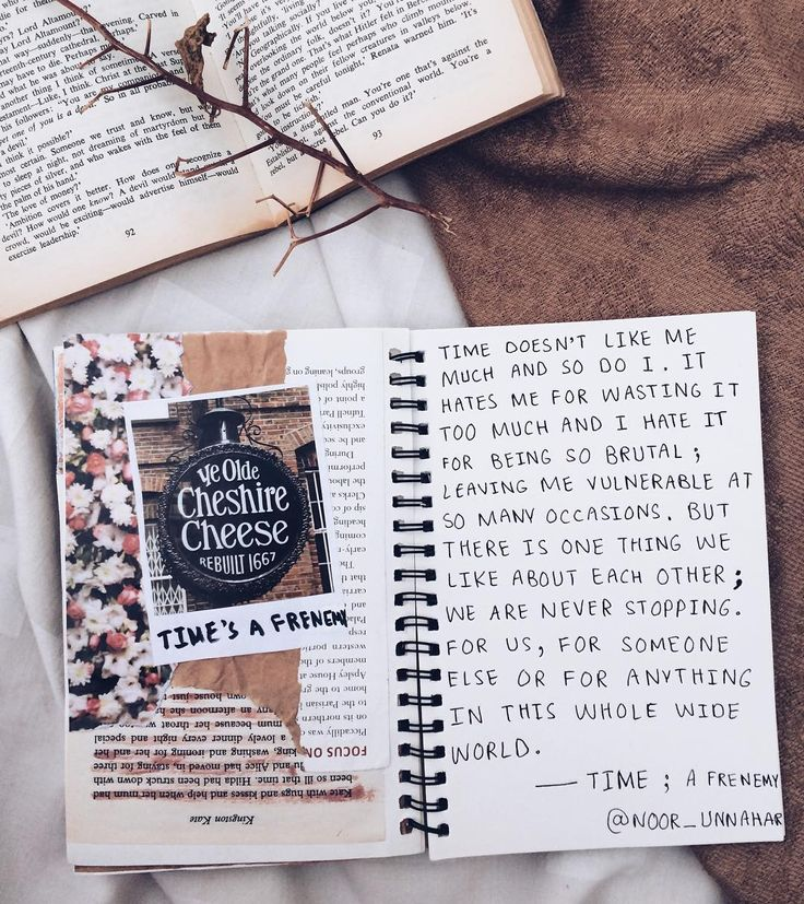 — Time; a frenemy // writing journal entry # 44 (from Noor Unnahar instagram https://www.instagram.com/noor_unnahar/)   // words, quotes, journal, art journal, journaling, inspiration, scrapbooking, flatlay, tumblr white aesthetics, creative photography)