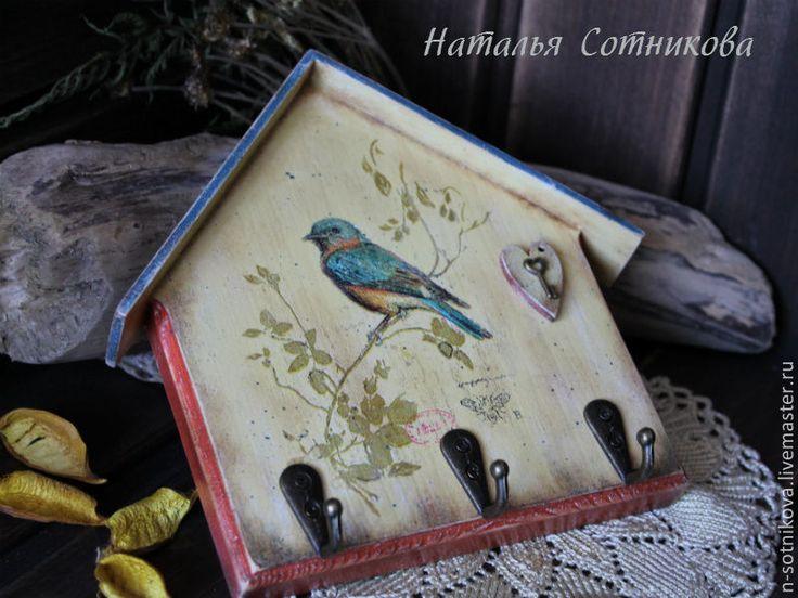 """Ключница """"Птичкин дом"""" + бирочка - ключница,прихожая,металлическая фурнитура"""