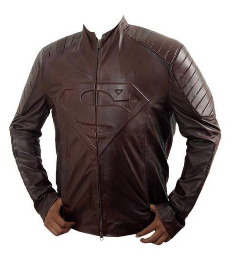 Superman Smallville comic Leather Jacket
