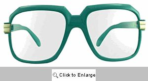Telly Big Square Clear Lens Glasses - 364 Blue