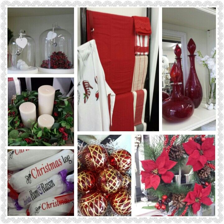 Red and white Christmas decor at Lifestyle Home and Living Www.lifestylehomeandliving.com.au