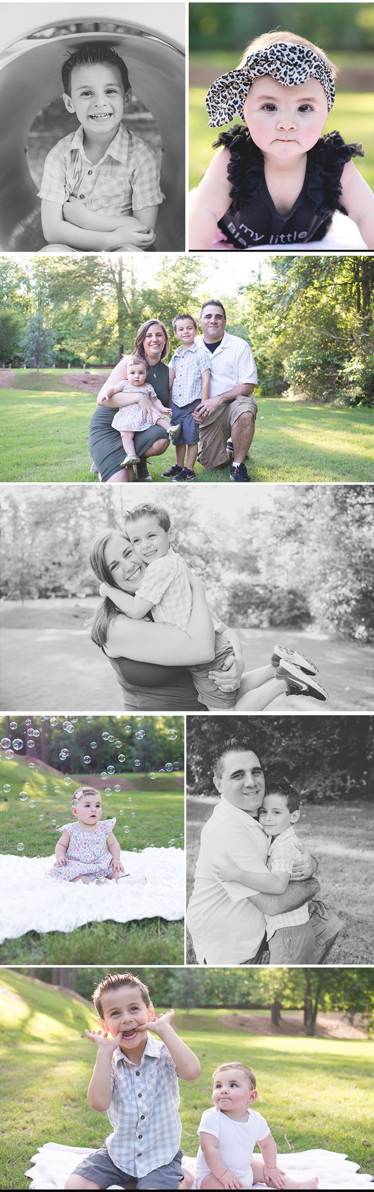 Sweet family portraits outside | Sunshine pictures | Family photo ideas | Outdoor photo shoot with kids