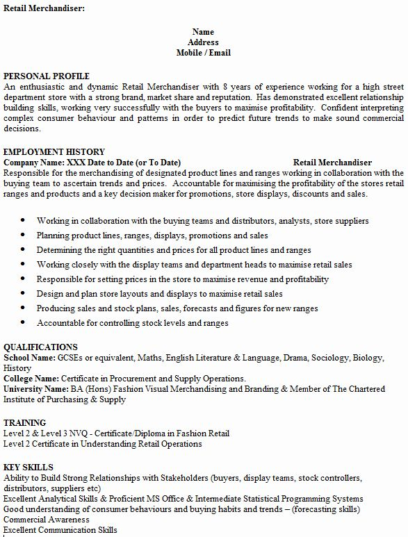 Visual Merchandiser Job Description Resume Lovely Merchandiser Cv Example Icover Teaching Assistant Job Description Job Description Cv Examples