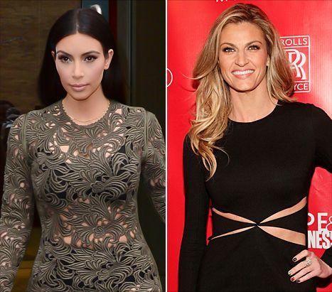 Kim Kardashian and Erin Andrews
