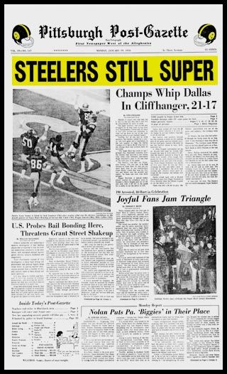 Pittsburgh Steelers Wood Mounted Poster Print - Still Super - Super Bowl 10 X