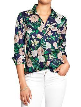 3/4-Shirt mit Tropical-Print lv1ncneyC
