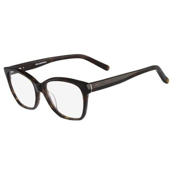 Karl Lagerfeld KL 851 013 Eyeglasses (1,345 MXN) ❤ liked on Polyvore featuring accessories, eyewear, eyeglasses, havana brown, clear glasses, oval eyeglasses, clear eyewear, karl lagerfeld glasses and brown glasses