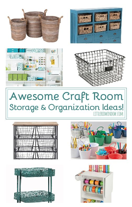 Keep your craft room organized with these great craft room storage and organization ideas!
