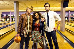 Scrotal Recall TV show (now Lovesick): Daniel Ings as Luke; Johnny Flynn as Dylon; Antonia Thomas as Evie
