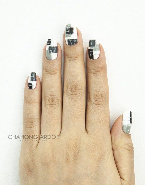 Square gray #nailart #nail #beauty #chahongardor