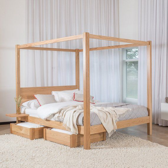 Four Poster Classic Wooden Bed Frame By Get Laid Beds Etsy In 2020 Four Poster Bed Four Poster Bed Frame Wooden Bed Frames