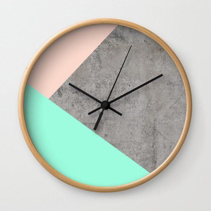 Concrete Collage Wall Clock By Cafelab Natural Black In 2020 Wall Collage Wall Clock Design Wall Clock