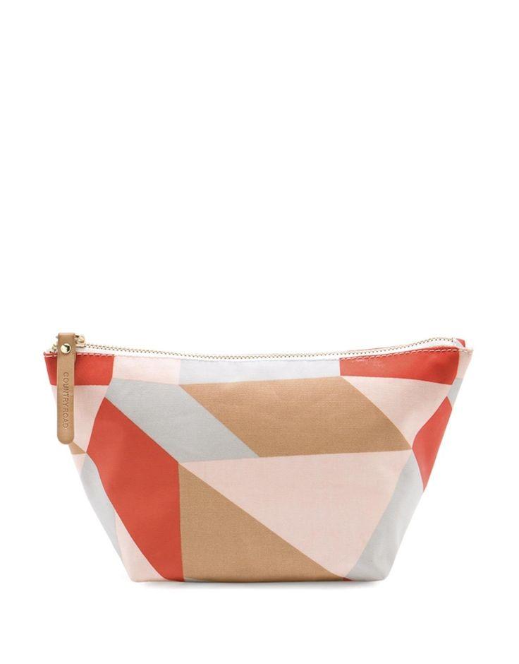 Abstract Print Tri Cosmetic Bag