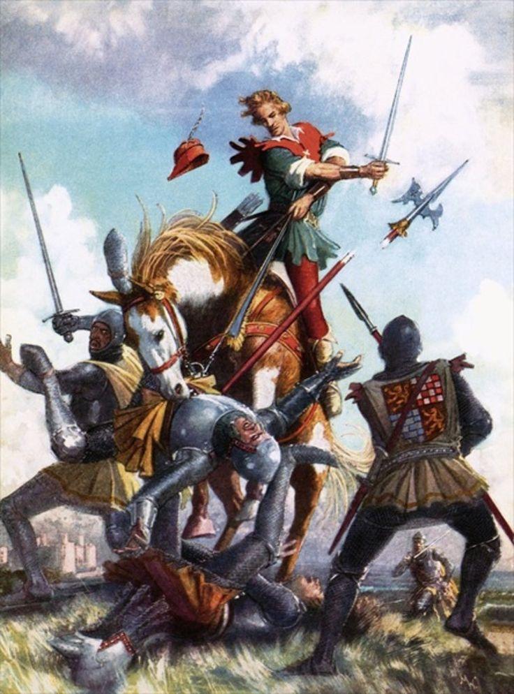 Robin Hood Fighting by John Millar Watt.