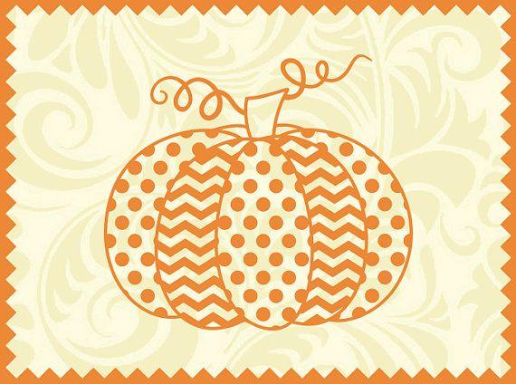Polka Dot and Chevron Pumpkin svg ai dxf cdr eps jpeg