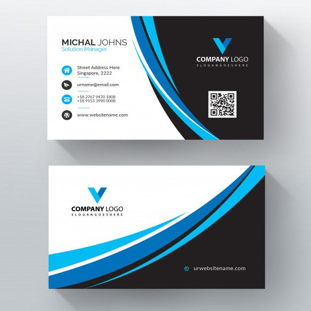 Download Blue Wavy Vector Business Card Template For Free Business Cards Vector Templates Free Business Card Templates Vector Business Card