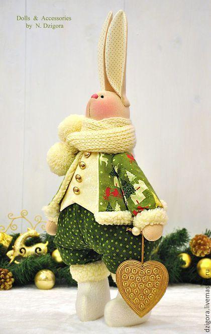 Игрушки животные, ручной работы. Рождественский кролик Люк. Дзигора Наталья…