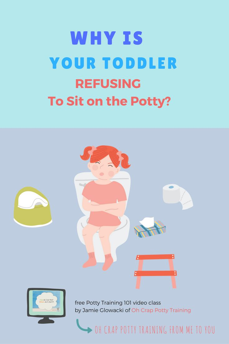 Why Is Your Toddler Refusing to Sit on the Potty | potty training tips | potty training video | Oh Crap Potty Training