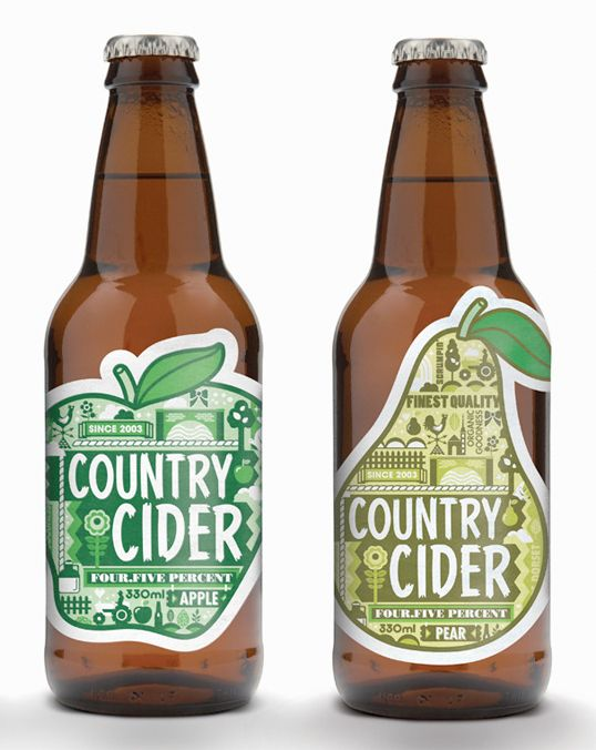 : Graphic Design, Package Design, Country Cider, Label Design, Packaging Design, Cider Labels, Cider Bottle, Bottle Design, Cider Packaging