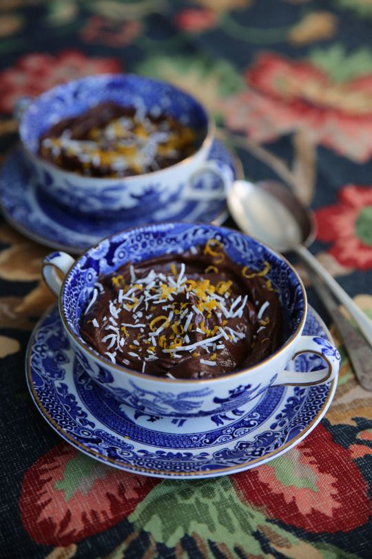 Raw salted chocolate and orange mousse from Eleanor Ozich's My Petite Kitchen