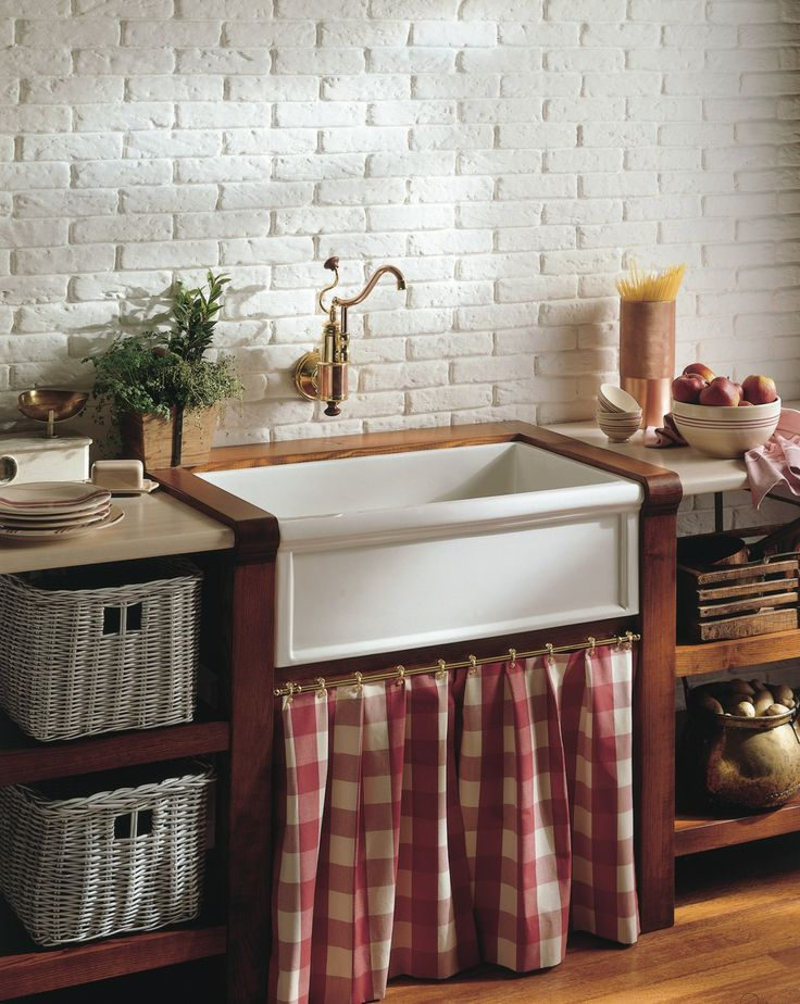French Country Charm -4603 Fireclay farmhouse sink & De ...