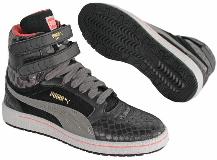 Puma Sky II Hi Animal Womens Girls Trainers Ladies Lace Up Black (355435 03 D11) in Clothes, Shoes & Accessories, Women's Shoes, Trainers | eBay :: v 6.5 ::