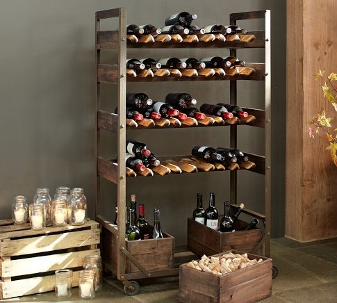 1000 images about wine storage display on pinterest for Pottery barn wine rack wood