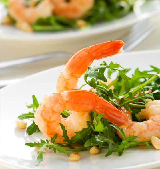 Maxines Burn : Lemon & Chilli Prawns with Salad