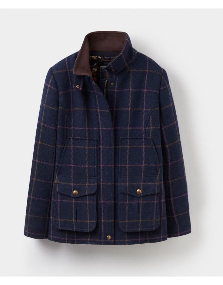 Joules-Field-Coat-Tweed-Fieldcoat-Jacket-Ladies