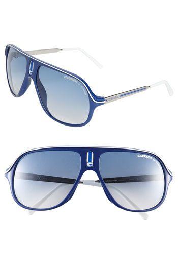 Carrera Eyewear 'Safari' Polarized Aviator Sunglasses- gotta love glasses with my last name on them!