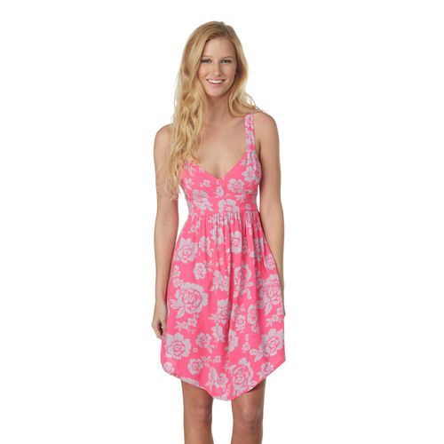 ROXY WOMEN'S SKY DIVE DRESS TROPICAL PINK FLORAL
