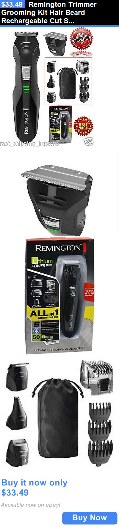Shaving: Remington Trimmer Grooming Kit Hair Beard Rechargeable Cut Shaver Clipper Razor BUY IT NOW ONLY: $33.49