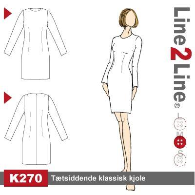 Tætsiddende klassisk kjole