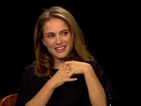▶ Natalie Portman and Darren Aronofsky Interview on the Charlie Rose Show - Not keen on the heightened amateur dramatic O.T.T. scenery chewing grand guignol of Black Swan but Natalie is a tremendous relaxed,candid,entertaining interviewee - ask Letterman - and she is in typical good form here and outstandingly breathtakingly beautiful - lovely hair and dress,sparkling eyes.