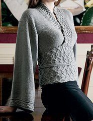 Kimono Styled Sweater pattern by Sarah Barbour.  Knit this unique design with our http://international.elann.com/elann-shop/elann-soft-embrace-dk-yarn-10-ball-bag/ Soft Embrace DK.