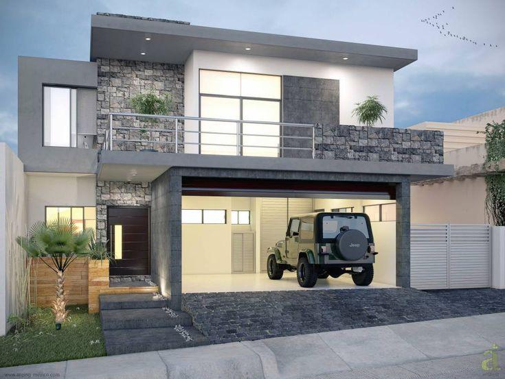 12 fachadas de casas con garaje que te van a encantar (y a inspirar) (De GracielaGomezOrefebre)